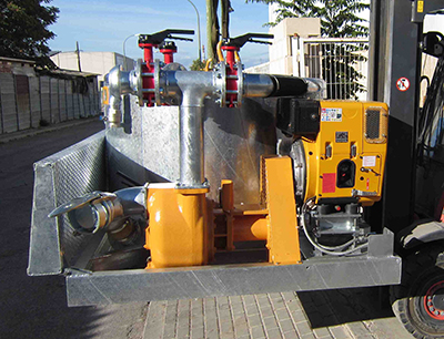 MODEL&CO, fabricante de mezclador discontinuo de lodos con tanque de precarga de agua M16D para obras de cimentaciones especiales