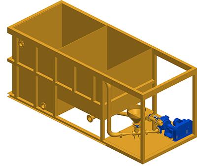MODEL&CO, fabricante de mezclador discontinuo de lodos (serie gran capacidad) M20 para obras de cimentaciones especiales. Fabricante de maquinaria de tratamiento de lodos