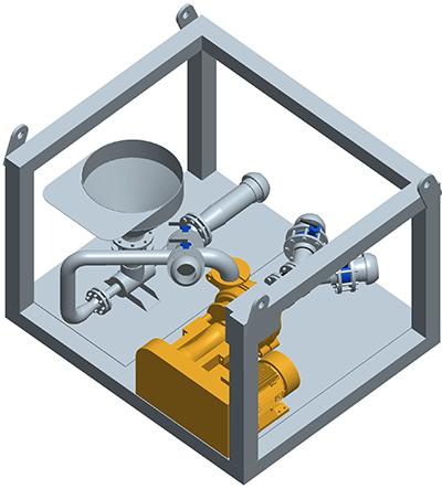 MODEL&CO, fabricante de mezclador continuo y discontinuo de lodos (serie gran capacidad) MV20,  para obras de cimentaciones especiales. Fabricante de maquinaria de tratamiento de lodos