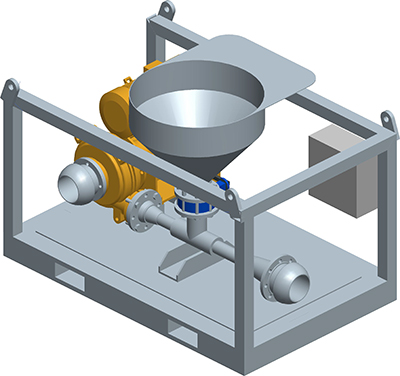 MODEL&CO, fabricante de mezclador discontinuo de lodos de perforación MV5 para obras de cimentaciones especiales. Fabricante de maquinaria de tratamiento de lodos