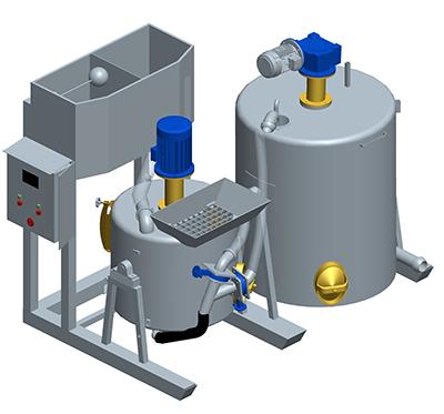 MODEL&CO, fabricante de máquina de preparación de lechadas con grupo mezclador + agitador MA2C para obras de cimentaciones especiales