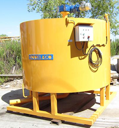 MODEL&CO, fabricante de maquinaria de preparación de lechadas con agitador MAL para obras de cimentaciones especiales