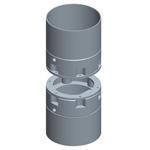 Unión atornillada para tubo circular de junta, utillajes para equipos de muro pantallas
