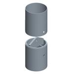 Junta redonda con bulón central, utillajes para equipos de muro pantalla para cimentaciones especiales