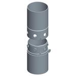 Junta redonda con tornillos perimetrales, utillajes para equipos de muro pantalla para cimentaciones especiales