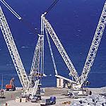 Grúa sobre orugas Liebherr LR11350 de segunda mano con capacidad de carga de más de 100 toneladas