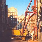 Cuchara hidráulica NCB de segunda mano para obras de muro pantalla en cimentaciones especiales