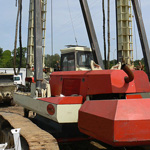 Used Llamada P90 TT CFA. Used engineering foundation equipment for piling, piles or micropiling rigs