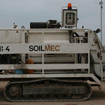 Used Soilmec Mecbo P6.80 trailer pump for concrete. Used engineering foundation equipment for