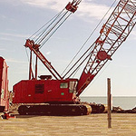 Used Manitowoc 4100W S2 machine. Used > 100 ton ringer crane for engineering foundation equipment for