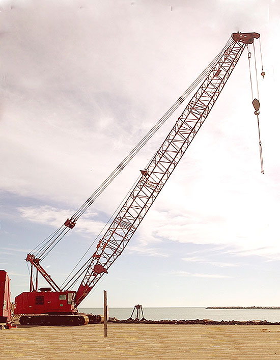13.000 hours. More than 100 ton ringer used crane for engineering foundation equipment worldwide
