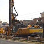 Used ABI TM12/15 machine. Used pile driver engineering foundation equipment for