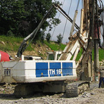 Used CMV TH 16 pile rig machine. Used engineering foundation equipment for piling rigs for large diameter boring
