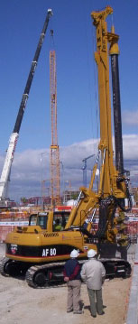 Second hand IMT AF80 pile rig machine. Used engineering foundation equipment for piling rigs for large diameter boring