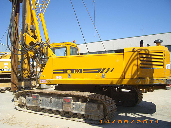 Second hand MAIT HR130 pile rig machine. Used engineering foundation equipment for piling rigs for large diameter boring