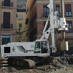 Used MAIT HR180 pile rig machine. Used engineering foundation equipment for piling rigs for large diameter boring