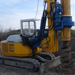 Used MODEL&CO RF4S pile rig machine. Used engineering foundation equipment for piling rigs for large diameter boring