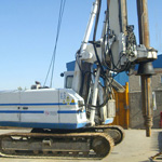 Used Soilmec R208 pile rig machine. Used engineering foundation equipment for piling rigs for large diameter boring