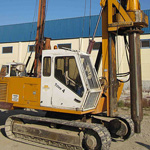 Used Trivesoil Trive 4 pile rig machine. Used engineering foundation equipment for piling rigs for large diameter boring